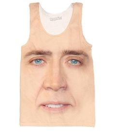 c969f1c891d2f Get this Nicolas Cage Tank Top from Let s Rage! This all-over print design