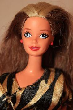 Wild Child! Brown w/ Blond Streaks Full Head Reroot Barbie Doll OOAK #Mattel