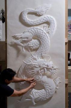 Unbelievable DIY Paper Sculpture Art Design You Must see - Home Beauty 3d Paper, Paper Crafts, Art Sculpture, Paper Sculptures, Modern Sculpture, Art Asiatique, Paper Artwork, Paper Artist, Paperclay