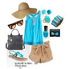 Beachy Blues, created by mariah-karm on Polyvore