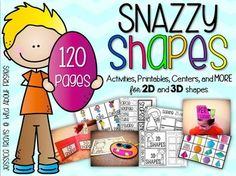 This Jam-Packed packet is just what you need to teach AND have fun with shapes! With 120 pages of activities, centers, printables, craftivities, and MORE... your students will be fully engaged with 2D and 3D shapes!This packet includes:1/2 page posters in color for all 2-d and 3-d shapes (2 versions) (Just shape and name as well as shape kids with name)Activities:-Anchor chart cards (2d & 3d)-Sorting activities (2d & 3d)-Sorting Pockets (2d & 3d)-Silly Shapes craftivity (2d shapes)(...