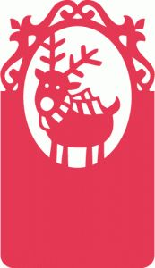 Silhouette Design Store - View Design #64246: cute reindeer ornate tag
