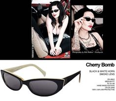 50a19ecac64e Cherry Bomb Sunglasses by Tres Noir- BLACK   WHITE HORN Cat Eye Sunglasses