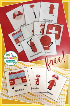 Fire Safety vocabulary cards are FREE to download! Use these to encourage speech during Fire Safety & Prevention Week!