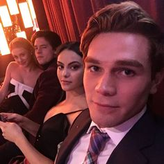 "When the core four glammed up together. | 27 Times The ""Riverdale"" Cast Were Completely Adorable IRL"