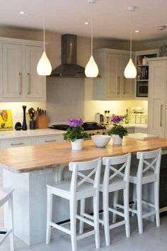 Give your Kitchen Lighting the WOW factor with Pendant Lights.    #HomeDecor #InteriorDesigns #Weekend #Home #Interiors #Decor