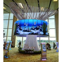 LG's Social Tree In Singapore's Changi Airport Terminal One