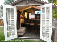 Forget the indoor bar area! Build a Pub Shed!