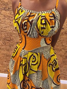 Hey, I found this really awesome Etsy listing at https://www.etsy.com/listing/175208138/african-print-pleated-sun-dress