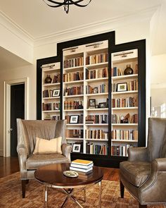 Chancellor's Residence by Dean Marvin Malecha (framed bookcase builtin)