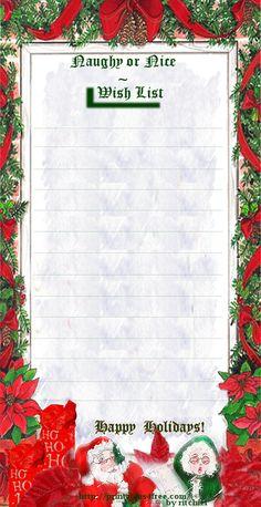 santa s naughty or nice wish list