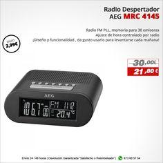 ¡Diseño y funcionalidad ,da gusto usarlo para levantarse cada mañana! Radio despertador AEG MRC 4145 http://www.electroactiva.com/aeg-radio-despertador-mrc-4145-negro.html #Elmejorprecio #Chollo #Despertador #Electronica #PymesUnidas