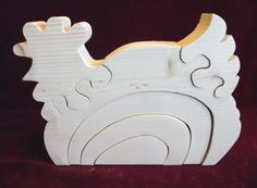 Big Stacker Fat Hen Puzzle/Stacker Combination by ClickityClack, $9.00