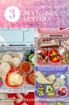 More Easy Valentine's Bento Box Lunches.