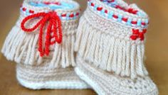 Moccasin Fringe Booties Crochet Pattern