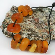 Antique Real Amber Beads ~  North Africa
