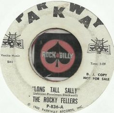 THE ROCKY FELLERS LONG TALL SALLY ROCKABILLY BOPPER PROMO DJ WLP 45 RPM RECORD  $25.00