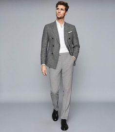 Summer Outfits Men, Stylish Mens Outfits, Summer Suits, Outfits For Teens, Stylish Man, Business Casual Men, Men Casual, Smart Casual, Formal Men Outfit