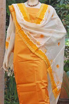 Stunning Tussar Silk Dupatta & Kurta | India1001.com