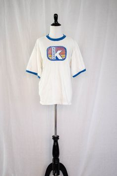 Vintage 1970's - 80's 'Kanakuk' Sunrise Ringer Graphic Tee Size M / L by BeehausVintage on Etsy