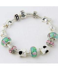 Charms European beaded bracelet