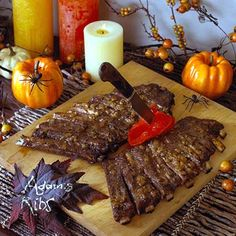 Cute way to serve ribs for Halloween!