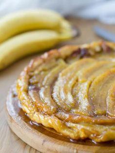 Tarte tatin à la banane flambée, une recette de dessert ultra gourmande à la banane #marmiton #recette #tarte #tatin #banane #rhum #flambé