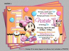 Baby Minnie Mouse 1st Birthday Party by cgcdesignzStudio on Etsy