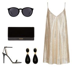 """Shine"" by toriwright70 on Polyvore featuring Jimmy Choo, New Look, Yves Saint Laurent and Balmain"