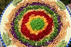 Red Cabbage Wreath Salad I made this one.it was sooo good! Ukrainian Recipes, Russian Recipes, Ukrainian Food, Appetizer Recipes, Salad Recipes, Appetizers, Vegetable Pasta, Party Finger Foods, Beet Salad