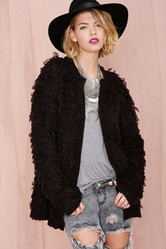 Tripp NYC Gorilla Knit Cardigan | Shop The Temp Drop Shop at Nasty Gal