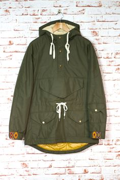 CREEP by Hiroshi Awai Nylon Military Anorak - Army Green