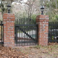 Custom Picket Fence with Brick Columns - Yelp