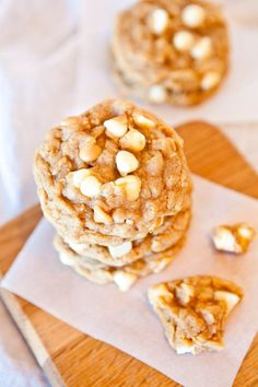 Peanut Butter White Chocolate Oatmeal Cookies