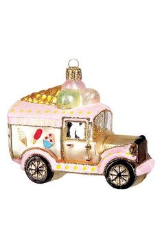 Nordstrom at Home Ice Cream Truck Glass Ornament available at #Nordstrom
