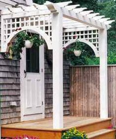 beautiful back frnch doors pergola. Make the balcony more eye pleasing.
