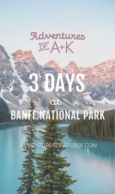 Our 3 days at Banff itinerary includes where to stay, the must-do hikes, where to eat, and the best things to do in Banff! Banff Hiking, Banff Canada, Alberta Canada, Banff Bc, Banff National Park Canada, Jasper National Park, Canada Destinations, Vacation Destinations, Vacation Ideas