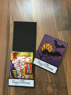 Halloween Cards, Halloween 2020, Halloween Treats, Happy Halloween, Halloween Treat Holders, Candy Wrappers, Thanksgiving Cards, Holiday Treats, Stampin Up