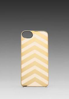 Incase Snap Case for iPhone 5 in Gold Chrome/Cream Chevron