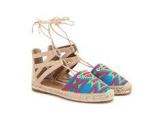 Aquazurra Belgravia embroidered suede espadrille sandals