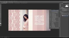 Watch as I show you how to use the NEW Luxe Lace Overlay and Action Collection for both Photoshop and Photoshop Elements available at Summerana.com