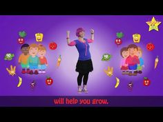 """Children's Song """"Healthy Food Will Make you Smile!"""" with Animation and Sing Along Lyrics! - YouTube"""