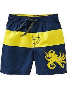 Color-Blocked Graphic Swim Trunks for Baby Short Shirts, Boys T Shirts, Kids Shorts, Swim Shorts, Boxer Pants, Jordan Shoes Girls, Denim Jeans Men, Mens Activewear, Man Swimming
