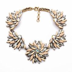 Fitand Wit Rhinestone Crystal Reasin Statement Fashion Necklace >>> See this great product.