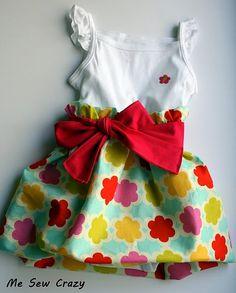 Bubble ruffle dress for a little girl