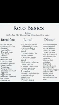 Keto for beginners. Keto basics for beginners. Keto Diet for beginners. Keto for begi Ketogenic Diet Meal Plan, Ketogenic Diet For Beginners, Keto Diet For Beginners, Diet Menu, Diet Meal Plans, Gm Diet, Ketosis Diet, Good Diet Plans, Weekly Diet Plan