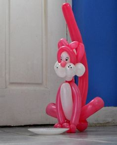 Pink Cat Twist Balloon