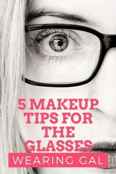 These 5 makeup tips for glasses wearers will help your eyes pop, your brows look amazing and overall give you the tips you need to be very happy with how your makeup looks.