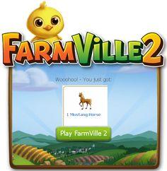 FarmVille2: Free 2 Mustang Horse! (Day 03/21) - FarmVille 2