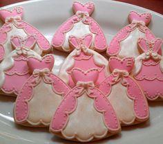 Custom listing 24 Princess Dress Sugar cookies by AlisSweetTooth